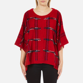 Moschino Women's Cape Jumper Red