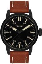 Tsovet SVT-FW44 FW331011-03 / Brown Leather Analog Quartz Men's Watch