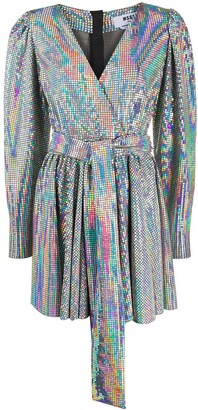 MSGM Chain Mail Wrap Dress