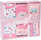 Sweet & Soft Pink Owl 9-Piece Boxed Layette Set - Infant