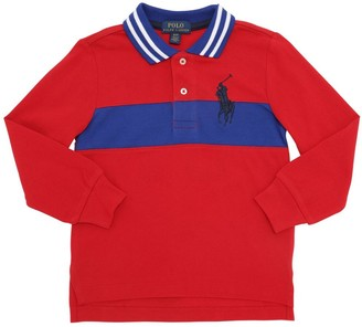 Ralph Lauren Color Block L/s Cotton Piquet Polo
