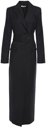 ANNA QUAN Noral Belted Wool-twill Coat
