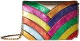 Just Cavalli Colored Laminated Leather Over the Shoulder Bag Shoulder Handbags