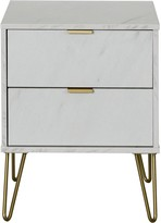 Marbella Swift Ready Assembled 2 Drawer Bedside Table
