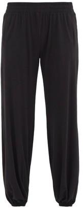 Norma Kamali Puff Cuff-ankle Jersey Track Pants - Black
