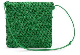 Bottega Veneta Crochet Leather Shoulder Bag