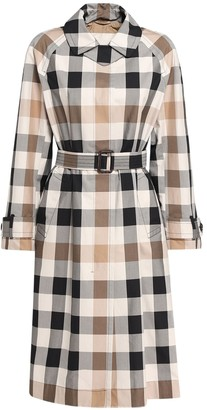 Max Mara Check Cotton Gabardine Trench Coat
