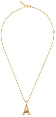 Chloé letter A pendant necklace