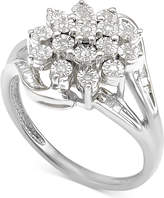 Macy's Diamond Cluster Ring (1/5 ct. t.w.) in Sterling Silver