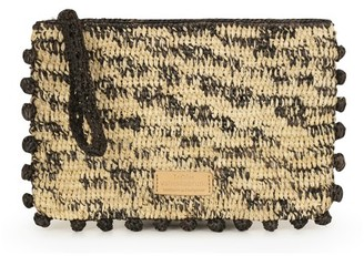 Vanessa Bruno Raffia and Sequins Flat Pouch