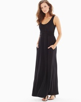 Soma Intimates Sleeveless Wrapped Waist Maxi Dress Black TL