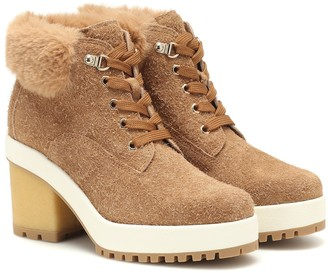 Hogan Suede ankle boots