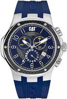 Caterpillar CAT Navigo Carbon Chrono Men's Quartz Watch with Blue Dial Analogue Display and Blue Silicone Strap A5.143.26.616