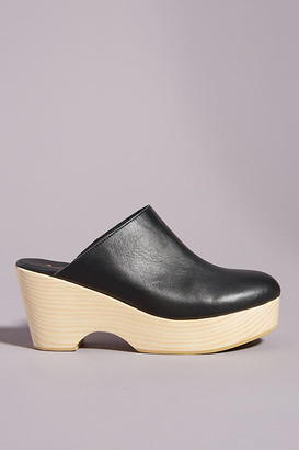 Anthropologie Hanna Heeled Clogs By in Black Size 36