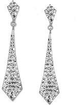 Kaleidoscope Silver-Tone Earrings, Tie Rhinestone Drop Earrings