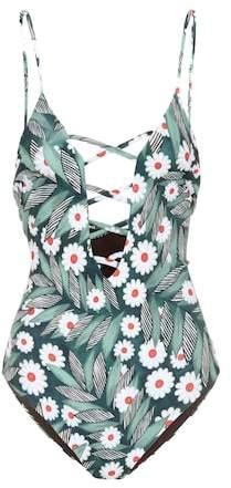 Mara Hoffman Criss Cross printed swimsuit