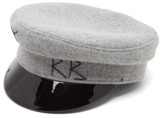Ruslan Baginskiy Vinyl-brim Wool-felt Baker Boy Cap - Grey