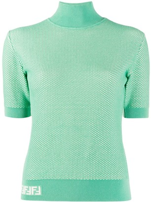 Fendi Knit Mesh Effect Top