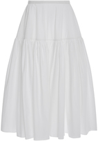 Rochas Cotton Blend A-Line Skirt