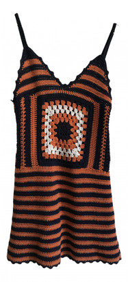 Miu Miu Orange Wool Dresses