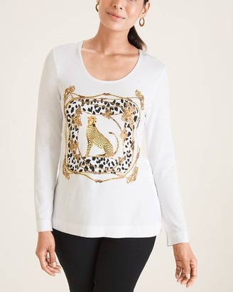 Chico's Leopard Scarf-Print Tee
