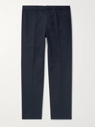Incotex Slim-Fit Stretch-Cotton Twill Trousers