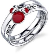 Disney Sterling Silver Love is All You Need Minnie Mouse Ring with Red Enamel