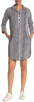 Foxcroft Mira 3/4 Length Sleeve Crinkle Dress