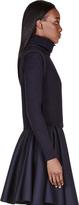 Chloé Navy Ribbed Knit Turtleneck