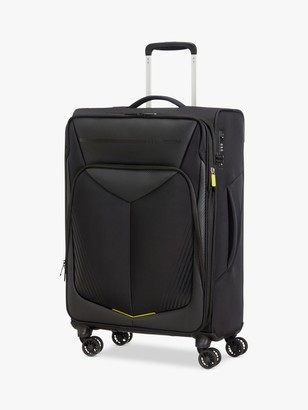 American Tourister Summer Funk Carbon 4-Wheel 67cm Medium Suitcase, Black