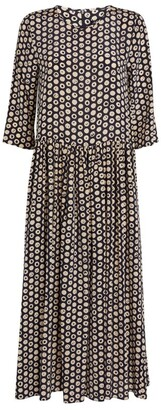 Max Mara Silk Polka-Dot Dress