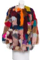Jocelyn Fur Collarless Coat