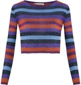 Cecilia Prado knitted cropped top - women - Viscose/Acrylic/Lurex - P