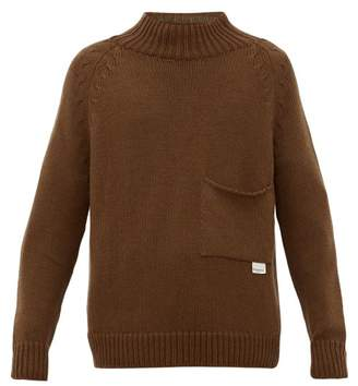 Rochas Ribbed Neck Wool Sweater - Mens - Brown