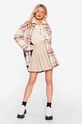 Nasty Gal Womens Why Grid You Do That Oversized Check Shirt - Pink