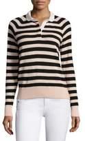 Joie Gabbe Striped Polo Sweater