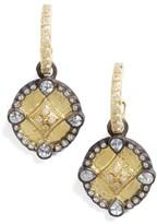 Armenta Women's Old World Shield Diamond Drop Earrings