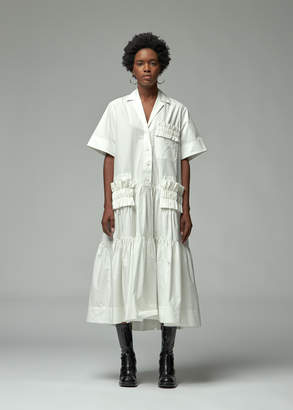 Lee Mathews Elsie Short Sleeve Pleat Shirtdress