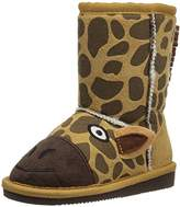 Muk Luks Kids' Animal Tan Giraffe Pull-On Boot