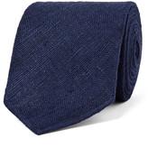 Drakes Drake's - 8cm Slub Silk Tie