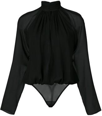 Fleur Du Mal Long Sleeve Keyhole Bodysuit