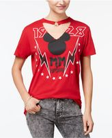 Disney Juniors' Cotton Mickey Mouse O-Ring Choker T-Shirt