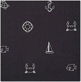 Thom Browne Men's Mixed-Icon Cotton Pocket Square-NAVY