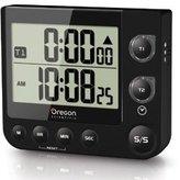 Oregon Scientific TW331 Dual Kitchen Timer with Clock & LED Alert - Black