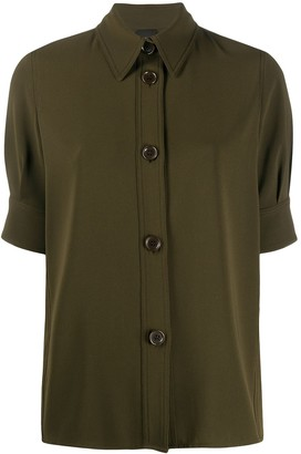 Aspesi Military Style Button Front Shirt