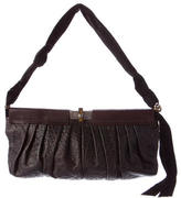Lanvin Pleated & Embossed Leather Shoulder Bag