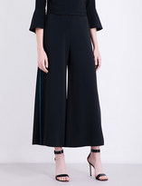 Peter Pilotto Contrast-piping crepe trousers
