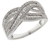 Lord & Taylor Diamond and 14K White Gold Ring 0.75TCW