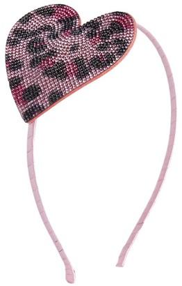 Bari Lynn Leopard Print Heart Hairband