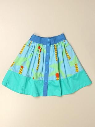 Stella McCartney Wide Skirt With Palm Pattern